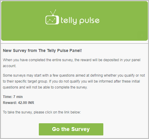 Paid surveys invitation