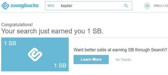 Swagbucks - Reward for searching the web