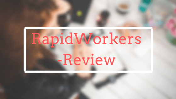 Rapidworkers Review - Is rapidworkers a legitimate site